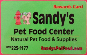 Sandy's Rewards Card