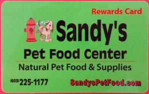 Sandy's Rewards Card